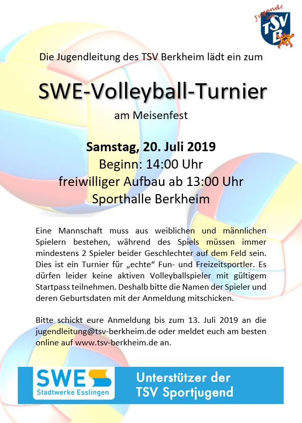 Plakat Volleyball Turnier 2019